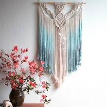Hecho a mano tapiz colgante de pared de Macrame boda fondo para ceremonias de pared de casa habitación decoración para el hogar