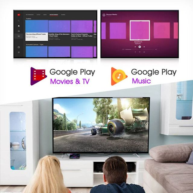 Android 9.0 TV Box H96 Max Rockchip RK3318 4K Smart TV Box 2.4G&5G Wifi BT4.0 16GB 32GB 64GB Media Player Android Set Top Box 4