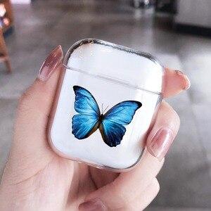 Image 2 - Airpods 프로 2 케이스에 대한 패션 아름다운 나비 케이스 에어 포드에 대한 귀여운 만화 하드 이어폰 커버 2 프로 충전 박스 capa