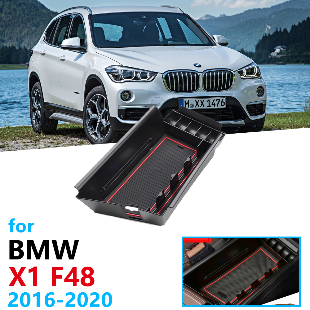 Car Organizer Accessories For BMW X1 F48 2016 2017 2018 2019 2020  Armrest Box Storage Stowing Tidying X1M M Power LHD Only Coin