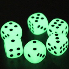 Dice Cubes Entertainment-Game-Dices Night-Light KTV Luminous 14mm 6-Sided Fun 6pcs/Lot