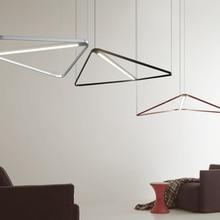 Nordic Led Pendant Lights Modern Office Decorative Lights Art Pendant Lamp Black Iron Living Room Hanglamp Luminaire Suspension