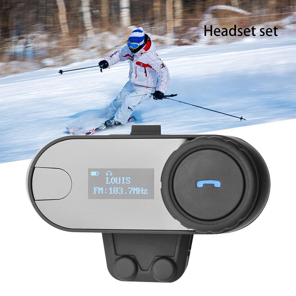 Motorcycle Helmet Bluetooth Headset Auto Answer Real Time Intercom Motorbike Helmet Interphone Headset