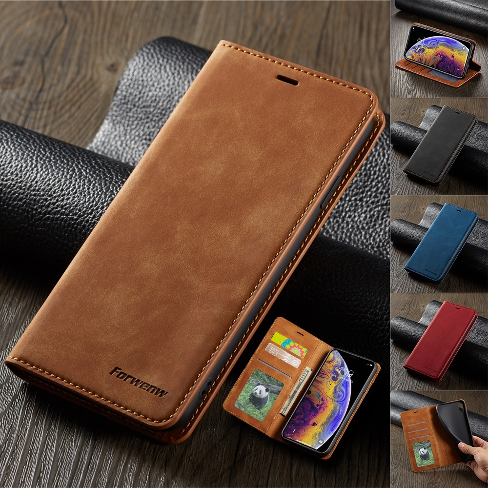 Ultra Thin Suede Leather Wallet Case for iPhone