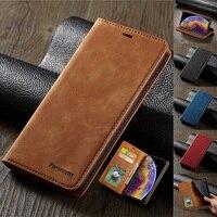 Funda billetera de cuero de gamuza ultrafina para iPhone 11 12 Pro Max Mini XR XS 8 7 6s 6 Plus SE 2020 5S 5 funda abatible magnética fuerte