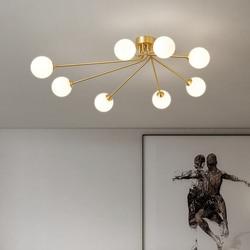 Plafonnier Led en laiton magique en verre au design nordique moderne, montage en Surface, Luminaire décoratif d'intérieur, Luminaire décoratif de plafond, idéal pour un salon ou une chambre à coucher, G9