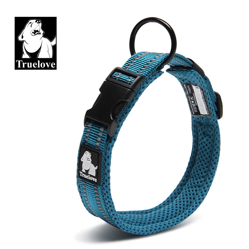 Dog Collar Truelove Nylon Reflective Adjustable Breathable Mesh Hot Selling