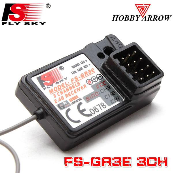 FLYSKY FS-GR3E GR3E 3CH GFSK RC Car Boat Receiver For FLYSKY GT2/GT2B/GT3/GT3B/GT3C/T6/CT6B/GR3E/TH9X RC Transmitter