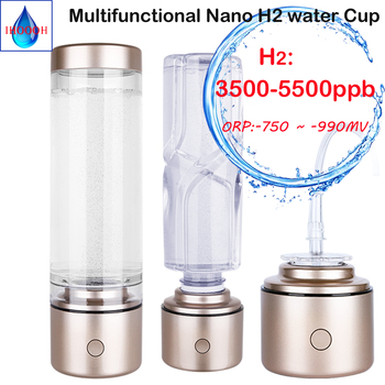 Nano High Concentration Hydrogen Rich Alkaline Water Bottle ORP Pure H2 Maker/Generator Multifunctional Use Healthy Anti-Aging high accuracy orp