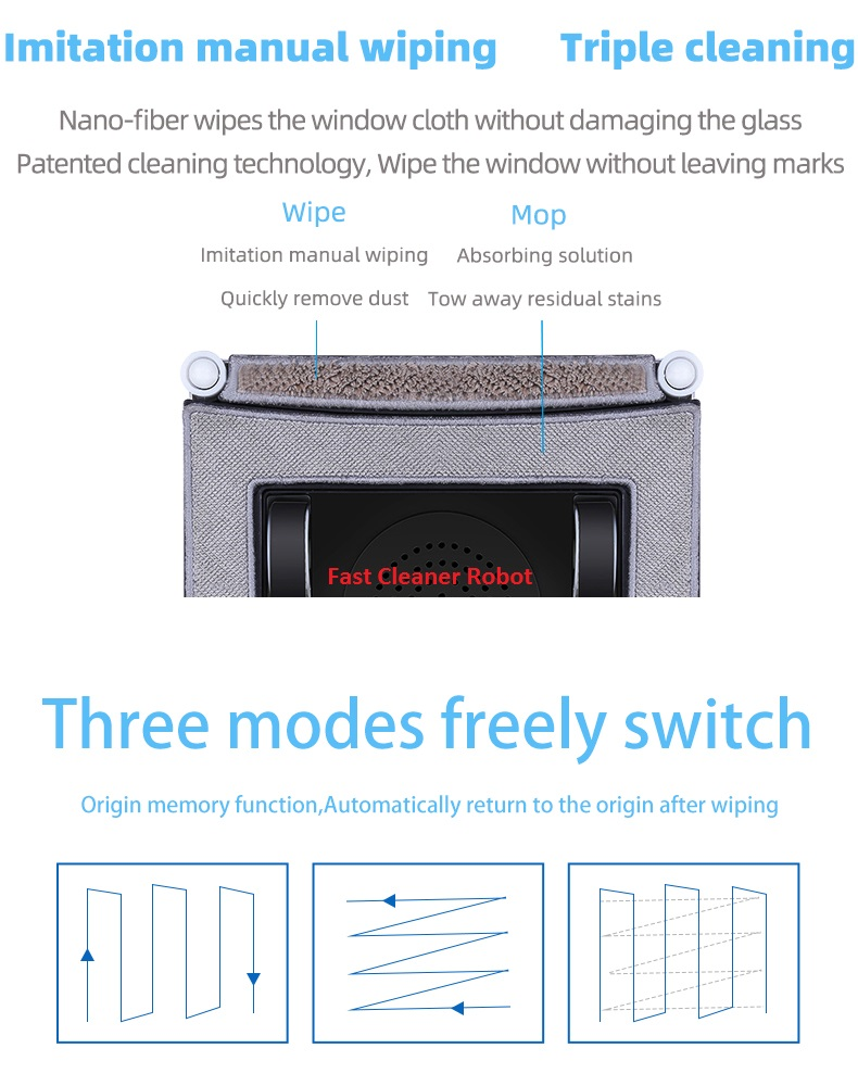 App Control Robot Window Cleaner and High-Altitude Window Cleaning Robot with Path Planning 11