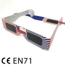 Gafas de visor Solar, gafas de adulto Eclipse Viewings, seguro CE Solar Viewing Eclipse Glasses paper 1000 pack al por mayor