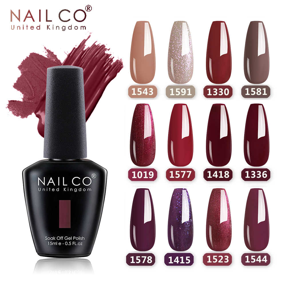 NAILCO 15Ml Unta Kopi Coklat Warna Coklat Series Gel Varnish DIY Gel Cat Kuku Kuku Seni Manikur Gellak Desain lacquer