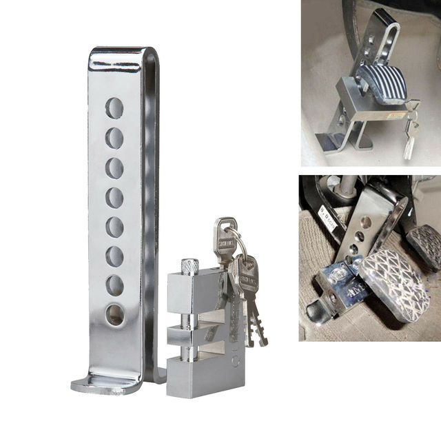 Samger Pedal Lock Universal Auto Car Brake Clutch Pedal Lock Alloy Steel Security Anti Theft For Cars Truck Throttle Accelerator