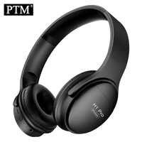 PTM H1 Bluetooth Kopfhörer Wireless Headset Faltbare Über-ohr Noise Cancelling Gaming Stereo Kopfhörer mit Mic Unterstützung TF Karte