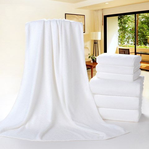 Hotel Bath Towel Hotel With Large Towel White Water-Absorbing Soft Adult Men And Women Home Beauty Salon Bath Towel