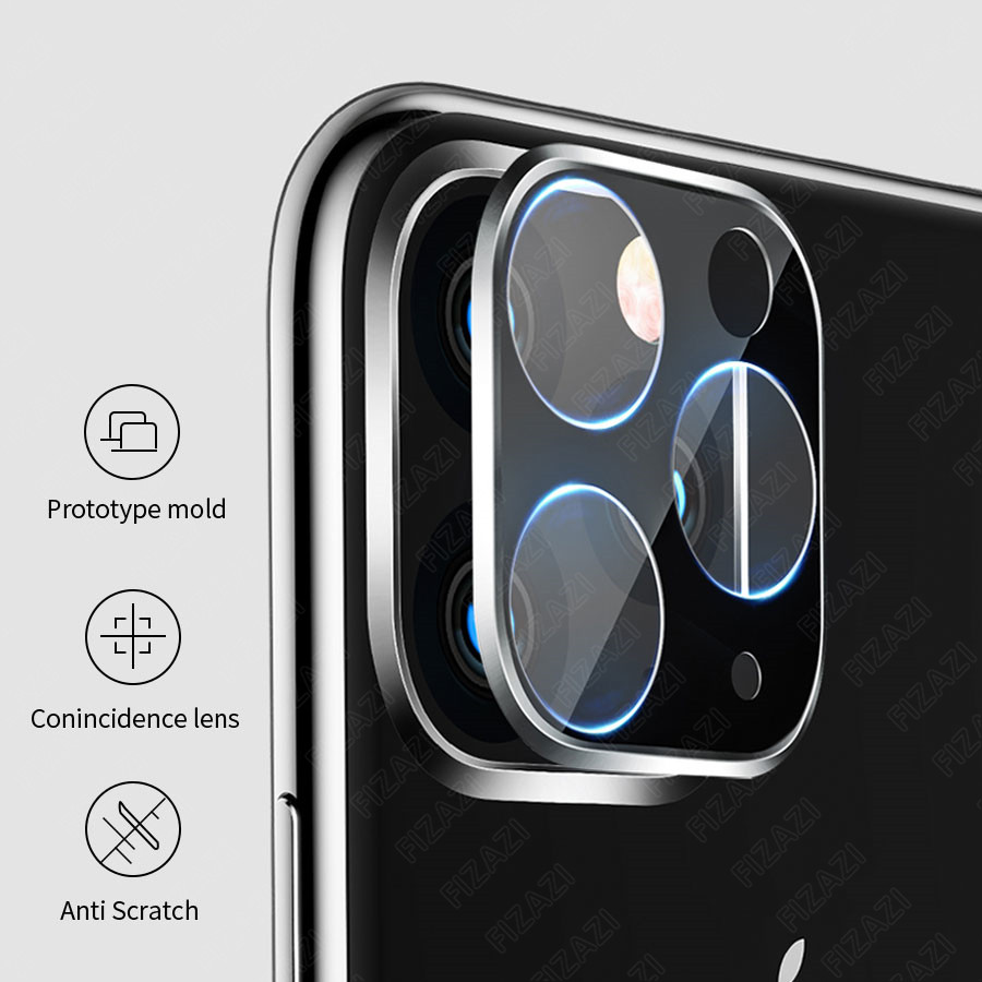 Image 5 - NEW Full Cover Back Camera Case for IPhone 11 Pro Max Titanium Alloy Case with Tempered Glass Rear Camera Lens Screen Protector-in Phone Screen Protectors from Cellphones & Telecommunications