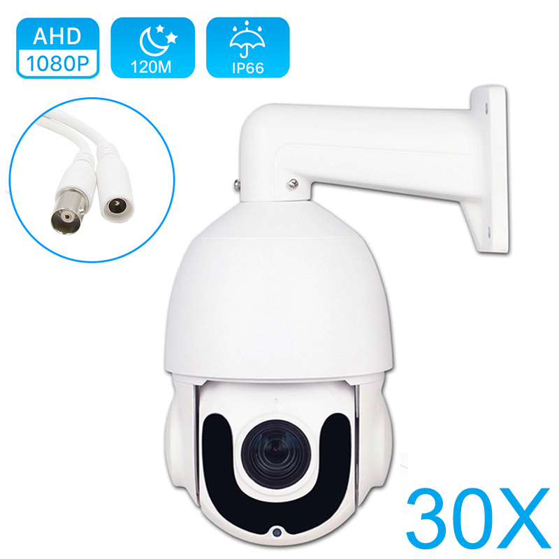 CCTV Security Outdoor High Speed Dome AHD 1080P PTZ Camera CVI TVI CVBS 4IN1 2MP 5MP 30X Zoom Coaxial PTZ Control Day Night IR