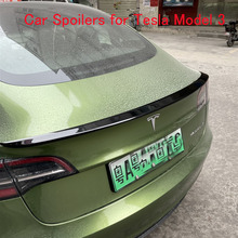Car Spoilers for Tesla Model 3 Carbon fiber Black glaze 3D extrusion blow molding F-HD Spoilers Car refitting