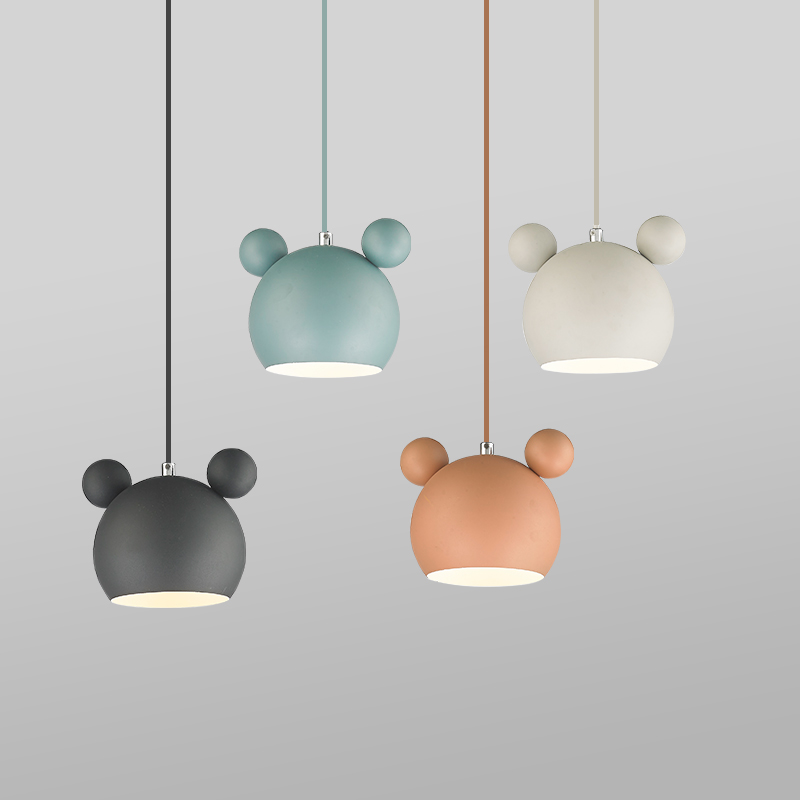 Nordic Mickey Wall Lamp Bedroom Bedside Sconce Modern Lovely Wood Wall Light Fixtures Children's Room Study Luminaire Home Decor