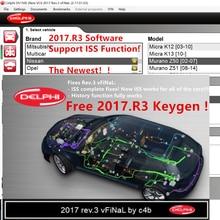 Новинка 2017.R3, поддержка функций ISS, бесплатное программное обеспечение для DVD CD-плеера Delphis 150e Multidiag Vd Ds150e с автомобилем и грузовиком