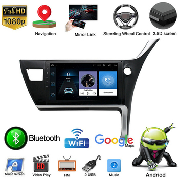 For Toyota Corolla Right Rudder 2017 Navigation 2 Din 1+16G Android9.1 Car Radio 10 HD Autoradio Multimedia Player Touch Screen image