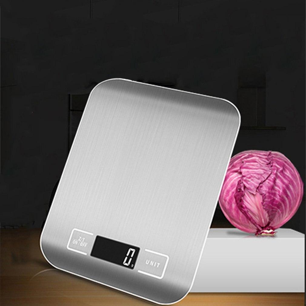 Бытовые кухонные весы, 5 кг/10 кг, 1 г, пищевая диета, Почтовые весы, измерительный инструмент, тонкие цифровые электронные весы с ЖК-дисплеем-4