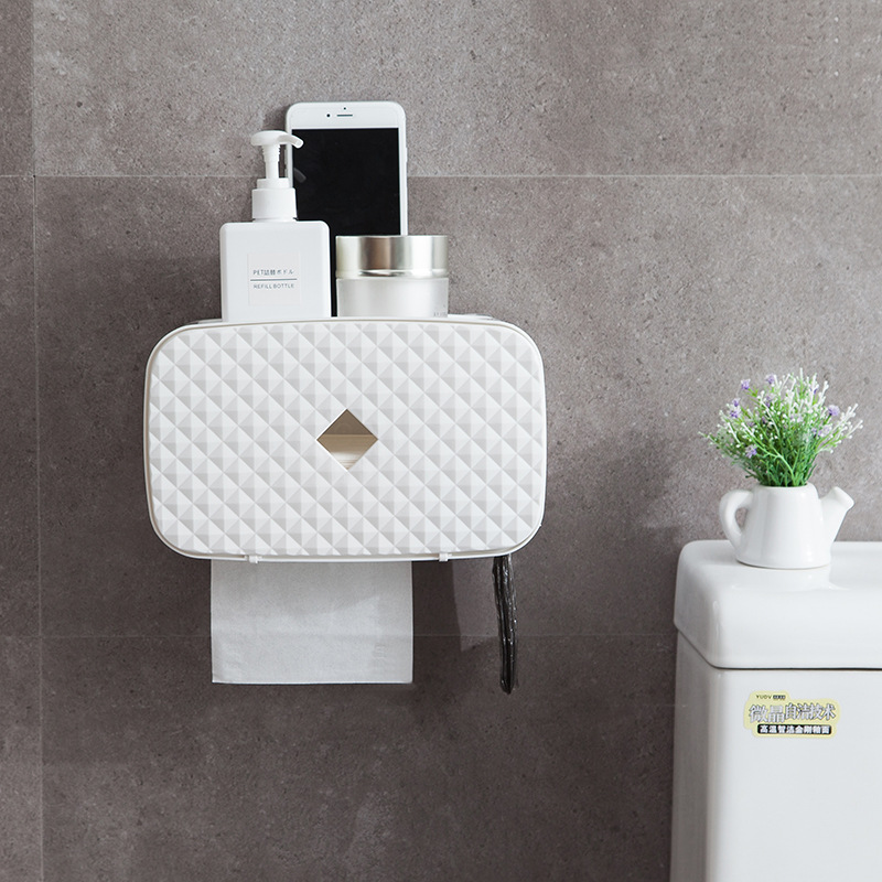 Multifunction Toilet Paper Holder Bathroom Storage Waterproof Holder For Paper Towels Convenient Practical Paper Towel Holder