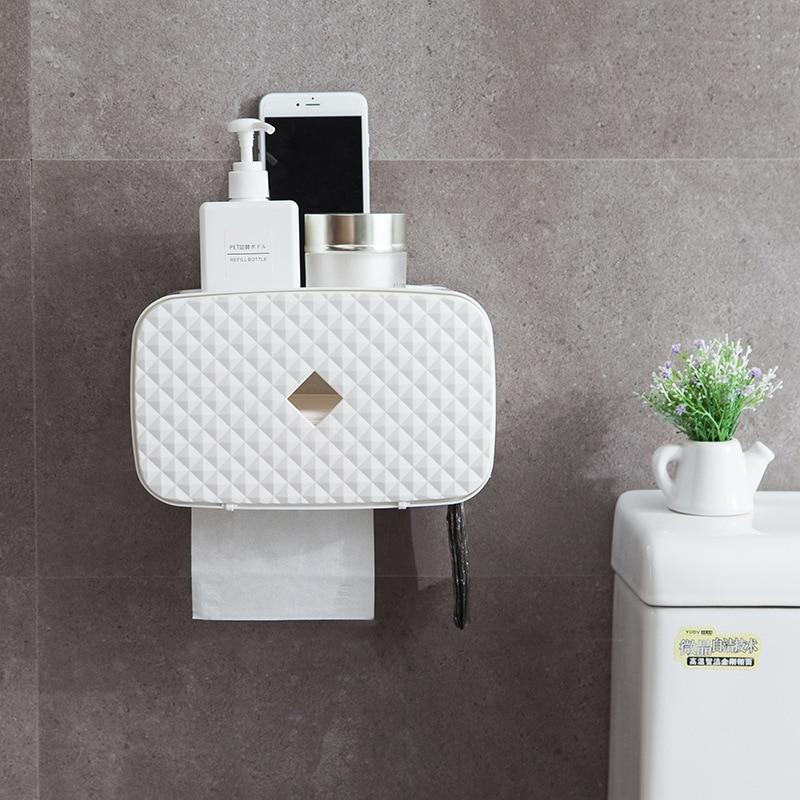 Multifunction Toilet Paper Holder Bathroom Storage Waterproof Holder For Paper Towels Convenient Practical Paper Towel Holder title=