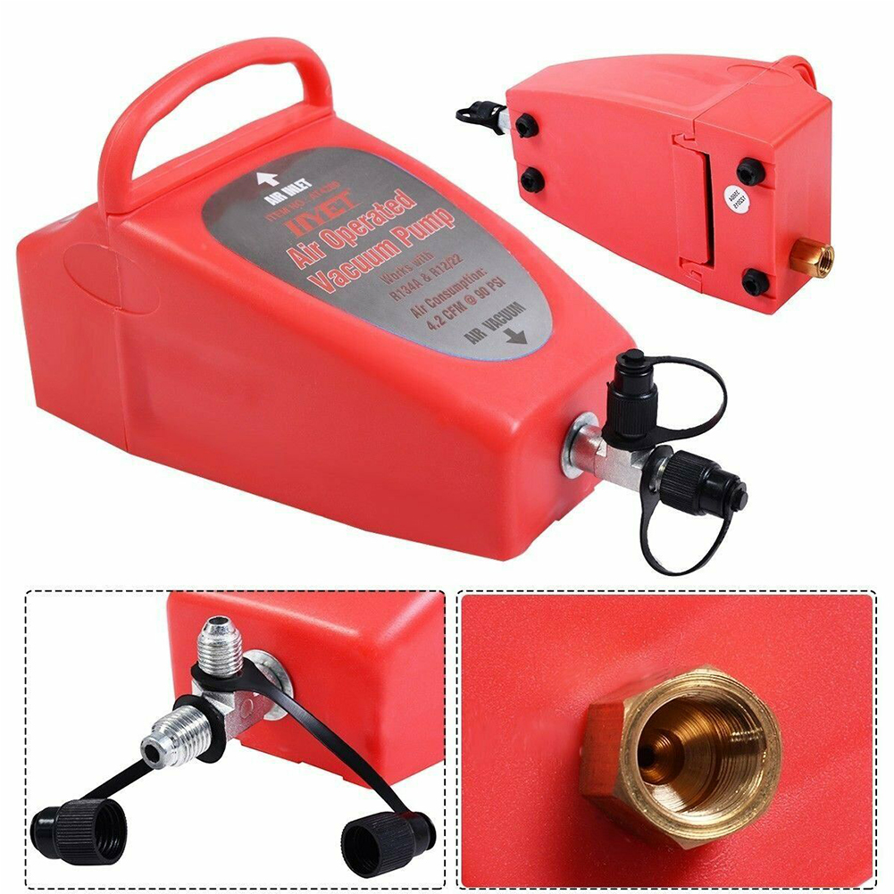 4.2CFM Durable Auto Tool Home Conditioning System Air Operated Vacuum Pump Refrigerator Portable Compressed Car Pneumatic