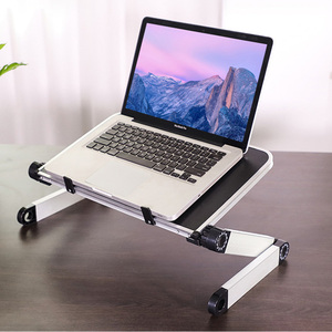 Image 1 - Aluminum Alloy Laptop Portable Foldable Adjustable Laptop Desk Computer Table Stand Tray Notebook Lap PC Folding Desk Table