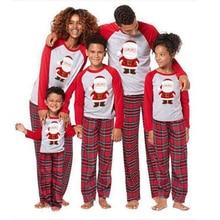 Рождественские Семейные пижамные комплекты для взрослых, детские пижамы, семейная одежда для сна, рождественские Семейные комплекты, топы и штаны, 2 предмета