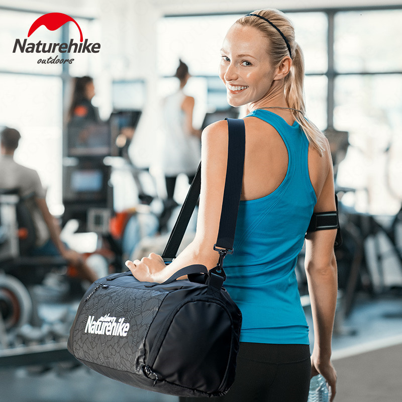Naturehike Dry-wet Separation Swimming Sport Gym Storage Bag Unisex Shoulder Handbag Multi-pocket Fitness Waterproof Storage Bag