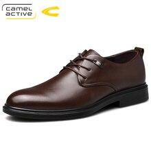 Camel Active Novos Homens Vestido de Escritório de Negócios Genuínos Sapatos De Couro Sapatos Casuais Confortáveis Sapatos de Couro Macio Sapatos masculinos Leves