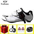 Tiebao Мужская обувь для езды на велосипеде  набор педалей  sapatilha ciclismo  гоночный велосипед  самоблокирующийся  велосипедные кроссовки  атлетиче...