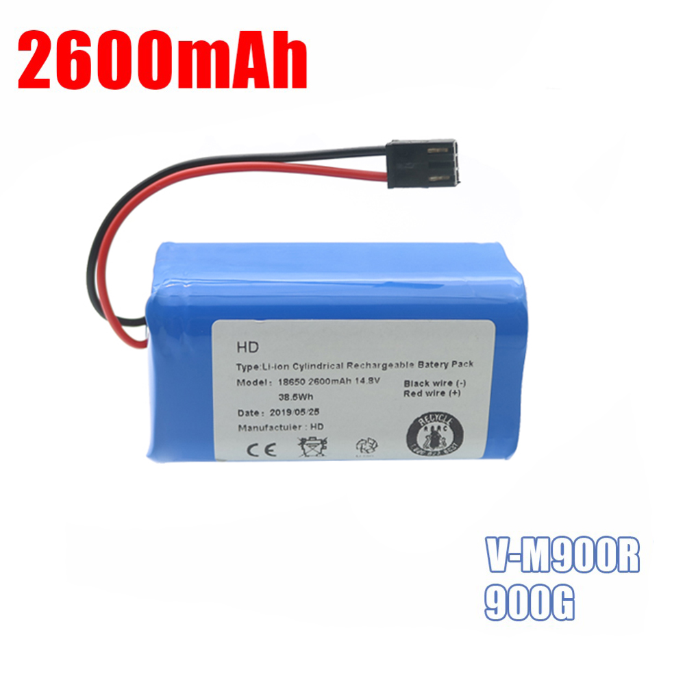 14.8V 2600mAh High Quality Hot Sale Li-Ion Replacements Rechargeable Battery For PUPPYOO V-M900R 900G Robot Cleaner