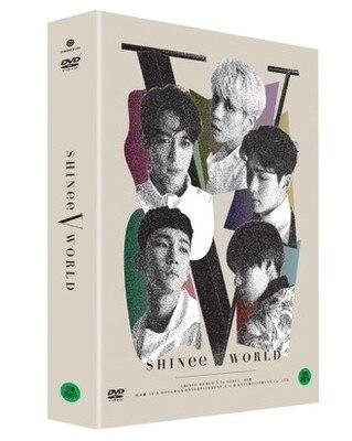 [MYKPOP] ~ 100% ORIGINAL officiel ~ SHINEE WORLD V à séoul 2DVD + livre Photo + affiche, Collection Fans KPOP-SA19082004