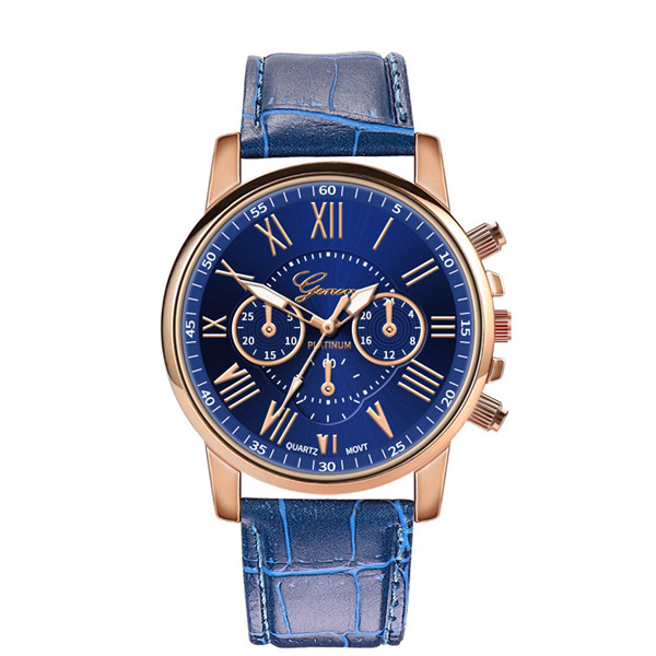 2020 Hot Sale Blue Watches Women Casual Watches Geneva Leather Band Quartz Wristwatches Women Sports Watches Gifts Reloj Mujer
