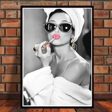 Clássico audrey hepburn poster impressão em tela arte da parede hd impressão decoração de casa imagem