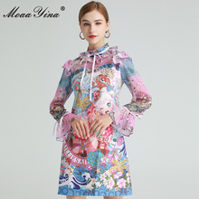 Dress Spring Flare-Sleeve Ruffles Fashion-Designer Moaayina Beautiful Anime