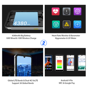Image 5 - Smartphone Blackview BV9900 8GB+256GB Helio P90 Octa Core IP68 Rugged Mobile Phone Android 9.0 48MP Quad Camera NFC