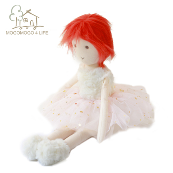 Luxury Pink Girl Rag Doll Premium Valentine's Present for Her Ballerina Girls Doll Princess Girls Doll in pink Dropshipping new pink closet wardrobe forbarbie doll girls toy princess bedroom furniture