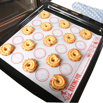 Non-Stick Silicone Baking Mat Pad Sheet Baking Pastry Tools Rolling Dough Mat Oven Tray Liner Pad For Macaron Cake Cookie silicone oven baking mat roll functional baking macaron non stick cake pad swiss roll pad baking tools for cakes silicone mat