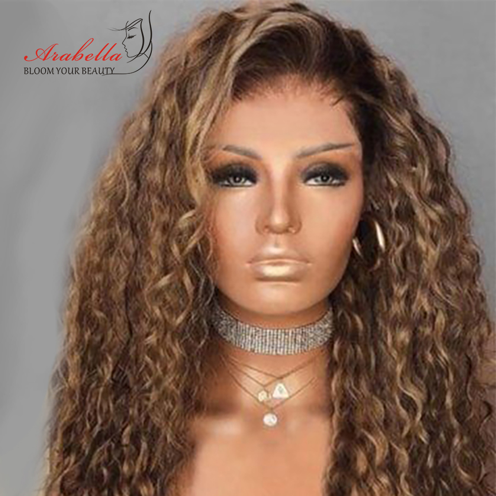 Water Wave Wig Highlight Lace Frontal Wig 100%  Wigs With Baby Hair Arabella  Hair Pre plucked Lace Closure Wig 3