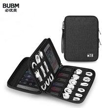 Bubm universal gadget organizador cabo usb saco de armazenamento viagem acessórios eletrônicos caso bolsa usb carregador de banco de potência titular hdd