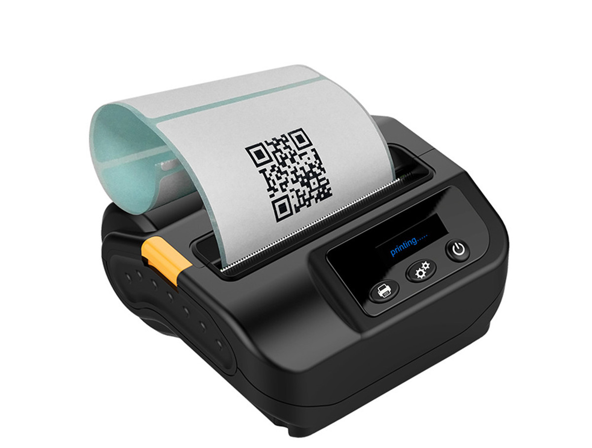 80mm Barcode QR Mobile Direct Thermal Printer 3Inch Bluetooth Printer