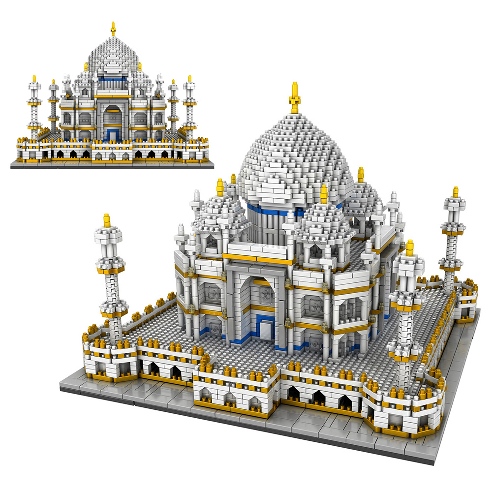 3950PCS Blocks Set Architecture Landmarks Taj Mahal Palace Model Building Blocks Children Educational Toys 3D Bricks Xmas Gifts