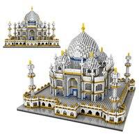 3950PCS Blocks Set Architecture Landmarks Taj Mahal Palace Model Building Blocks Children Educational Toys 3D Bricks Xmas Gifts