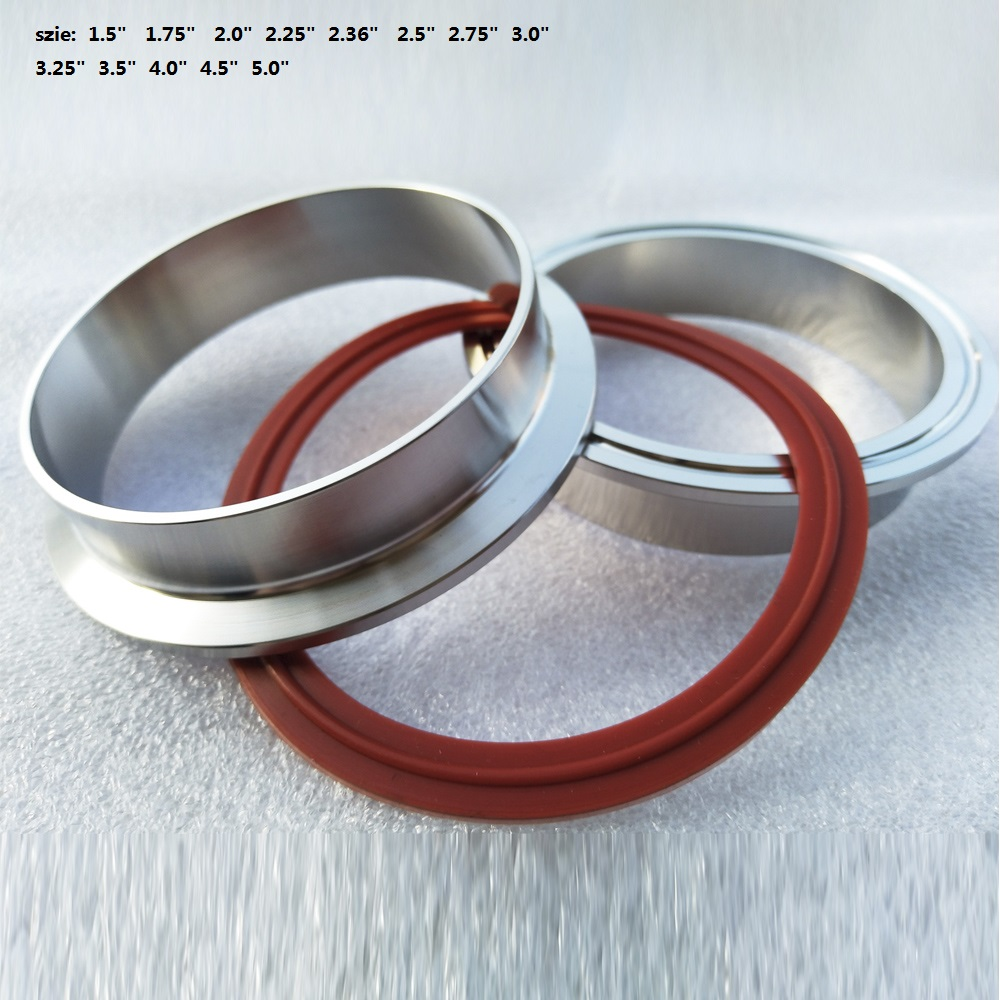 1.5 4.0inch Aluminum flange car exhaust pipe v band clamp O ring seal Alloy VBand Flange only flange