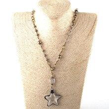 Модные богемные ювелирные изделия Античный камень цепочка со стразами кристалл кулон ожерелье s для женщин национальное ожерелье
