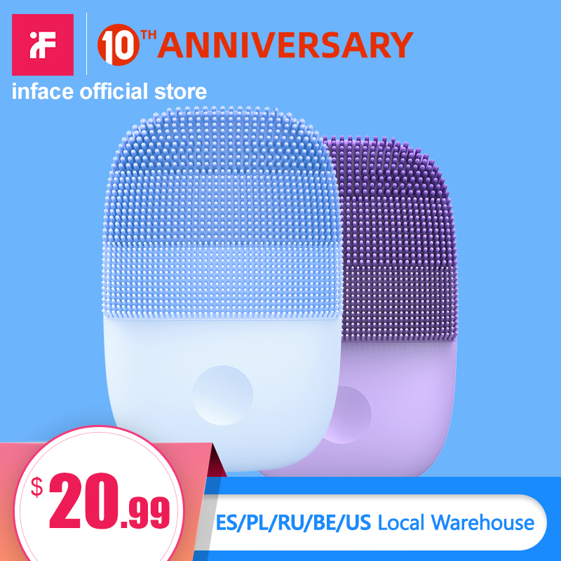 (Limited)Inface Facial Cleansing Brush Upgrade Version Electric Sonic Face Brush Deep Cleaning Waterproof  Tool